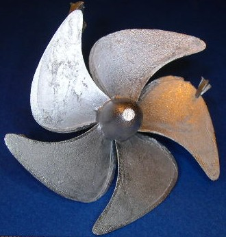 Propeller,1:100, 5 Blatt,  ø = 54mm, linksdrehend