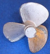 Propeller, 1:150,  3 Blatt,  ø = 23mm, linksdrehend